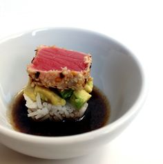 Sometimes I do weird things like make sushi in an ice cube tray. I came across a delicious sashimi grade ahi tuna steak again and couldn't resist. I brought it home and then had to figure out what to do. I had a couple avocados so I knew I could work something out. I boiled...