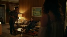 "Shut Eye 1x07 ""Two of Swords"" - Charlie Haverford (Jeffrey Donovan), Sylvia Haverford (Leah Gibson) & Terry (Luke Camilleri)"