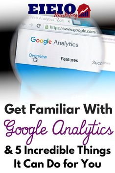 Make sure you know exactly what Google Analytics can do for your online business and take advantage of the free tracking service... Make Money Blogging, How To Make Money, Event Software, Web Analytics Tools, Facebook Marketing Strategy, About Facebook, Google Analytics, Learn To Love