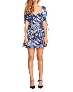 Alice Mccall Pailsey Mini Dress In Blue Paisley Tie, Paisley Print, Alice Mccall, Royal Blue Dresses, World Of Fashion, Stretch Fabric, Fit And Flare, Fabric Design, Clothes For Women