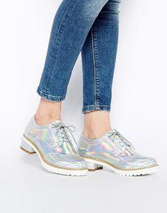Agrandir ASOS - MEGA BOOM - Chaussures plates à lacets Chaussures Plates À  Lacets, Chou cddc3ca6aa5c