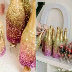 Botellas glitter
