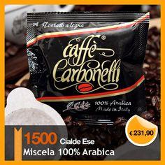 $304.83 €231,90 Questa offerta prevede 1500 Cialde Ese Caffè Carbonelli Miscela 100% Arabica Raffinata miscela composta dal 100% di caffè arabica. L'equilibrato dosaggio di questi eccellenti caffè, offre una tazza dalla spiccata cremosità, per un aroma vellutato e cioccolatoso. Il costo di spedizione è gratuito per l'Italia. Per Europa, Usa, Australia, Canada, Asia, il costo del trasporto viene calcolato in base alla destinazione.
