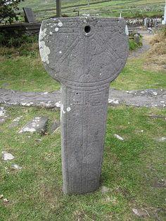 Ogham Stone Sundial, Dingle  Peninsula, County Kerry, Ireland