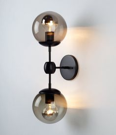 Roll & Hill Modo Sconce- 2 Globes Guest bathroom L-8 (qty 2)
