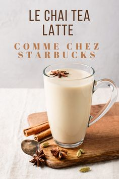 Masala Chai, Chaï Tea Latte, Smoothies, Desserts With Biscuits, World's Best Food, Starbucks Recipes, Latte Recipe, Fat Foods, Food Cravings