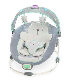 The Ingenuity InLighten Bouncer is a bouncer designed to soothe and comfort baby through touch, sounds, and lights! This baby bouncer with sweet teddy bear decor soothes Baby Boy Bouncers, Baby Swings And Bouncers, Baby Strollers, Baby Bouncer Seat, Best Baby Bouncer, Baby Car Seats, Baby Needs, Baby Love, Big Baby