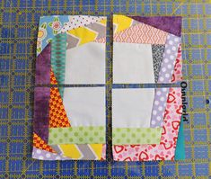 Tutorial: Trash to Treasure Block (& giveaway winners! Strip Quilts, Patch Quilt, Scrappy Quilts, Mini Quilts, Quilt Blocks, Quilting Tutorials, Quilting Projects, Quilting Designs, Crazy Quilt Tutorials