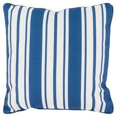 Surya Nautical Stripe Indoor/Outdoor Pillow Cobalt - NS001-2020