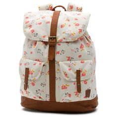 The Lean In Leila Backpack is a cotton denim printed backpack with debossed lining, PU trim, an interior laptop sleeve, and an adjustable cinch top with a flap snap closure. Measuring 17 H x W x 6 D, it has a capacity. Vans Backpack, Denim Backpack, Floral Backpack, Backpack Bags, Drawstring Backpack, Luggage Brands, Luggage Store, Back To School Backpacks, Buy Vans