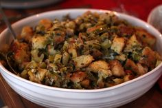 Hands down the best stuffing of all times: Rustic Herb Stuffing