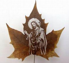 Резьба по листьям. Работа пятнадцатая