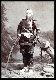 Gaijin samurai or One of the first cosplayers visiting his dream-land, ca.1890s