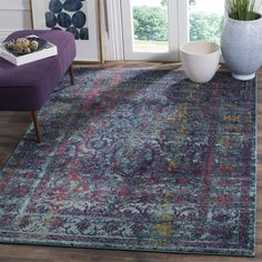 Safavieh Granada Vintage Bohemian Blue/ Multi Distressed Rug (4' x 6') | Overstock.com Shopping - The Best Deals on 3x5 - 4x6 Rugs