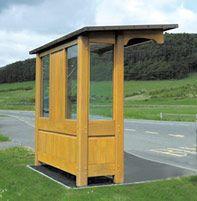 Ashkirk wooden bus shelter