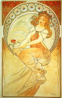 "Painting - From ""The Arts"" Series - Alphonse Mucha - c. 1898"