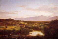"""""""River dans les Catskills"""", huile sur toile de Thomas Cole (1801-1848, United Kingdom)"""