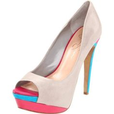 Jessica Simpson peep toe pumps, via @Mary-Elsye Winchester