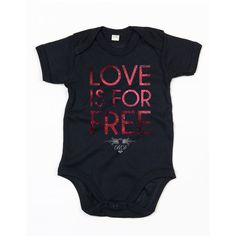 LOVE is for Free babysuit  / eco / organic cotton / fair trade / clothing with attitude