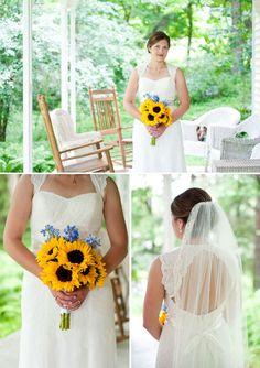 Bridal Portraits || Sunflower Wedding Bouquet || PHOTO SOURCE • CHRISTA DONALD PHOTOGRAPHY
