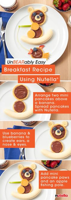 Ready for an unbearably easy breakfast recipe? Reel in some quality family time this week by whipping up this fuzzy fisherman with Nutella®.