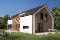 Tipska atrijska hiša is part of Architecture house - Modern Barn House, Modern Cottage, Modern House Design, Residential Architecture, Modern Architecture, Barn House Conversion, Gable House, A Frame House, Shed Homes