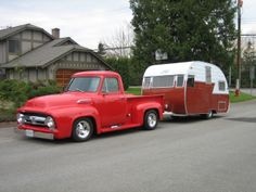 '55 Ford F100 and Shasta Trailer  Langley BC Peter Cumberland photo