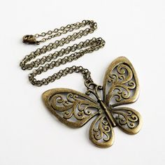 $19 Butterfly Necklace now featured on Fab.