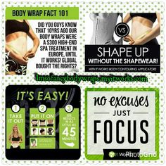 Treat yourself and friends to an inexpensive Spa treatment  on the go or in the comfort of your own home.You only need 45min to tighten,tone and firm your target areas.To purchase The Ultimate Body Applicator (Body Wraps) go to http:// Imsofancybodywraps.myitworks .com        Become a Loyal Customer for discount prices..