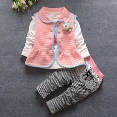 Children Clothes Baby Girls Clothing Set Cute 3pcs kid children clothes set Suit Princess Clothes Tracksuit set 1