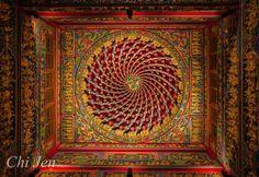 temple ceiling ,Bodhisattva Guanyin Temple,New Taipei #Taiwan 林口 竹林山 觀音寺