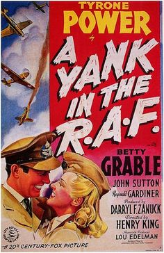 Tyrone Power and Betty Grable - A Yank in the R.A.F. (1941)