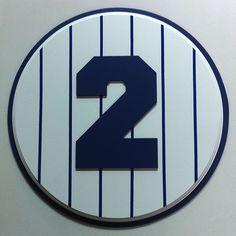 Retired Number 2 Plaque Yankees Derek Jeter - large
