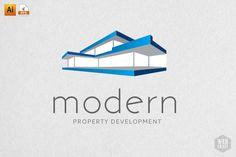 Modern Real Estate Logo Template by WebCraft on @creativemarket
