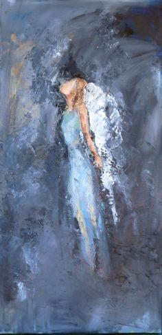 "For Sale: Hope by Judy Mackey | $250 | 18""w x 36""h | Original Art | http://www.vangoart.co/buy/art/hope--3 @Vango"