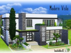 Lovely modern two story house for your sim family Found in TSR Category 'Sims 4 Residential Lots' Sims 4 Modern House, Modern Family House, Sims 4 House Design, Sims 4 Family House, Sims 3 Houses Ideas, Sims 4 Houses Layout, House Layouts, Sims Ideas, Sims 4 House Plans