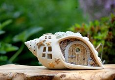 Fairy Houses: Magical Ceramic Candle Holders by Antje Rosemann – LivemasterMy Mupfel Source byHoniglicht-Keramik - Home Clay Fairy House, Fairy Garden Houses, Clay Fairies, Fairy Crafts, Ceramic Candle Holders, Fairy Doors, Shell Crafts, Polymer Clay Crafts, Diy Clay