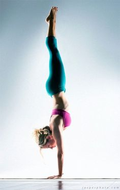 Handstand - Kathryn Budig Against a wall = yes. In the middle of the room = no. Someday I will !!