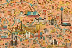 Berlin-City-Map_A1_Illustrated-by-Vesa-Sammalisto detail