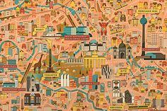 Berlin-City-Map_A1_Illustrated-by-Vesa-Sammalisto detail
