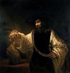 Rembrandt van Rijn (Dutch, Leiden 1606–1669 Amsterdam)  Aristotle with a Bust of Homer  1653  Oil on canvas  143.5 x 136.5 cm