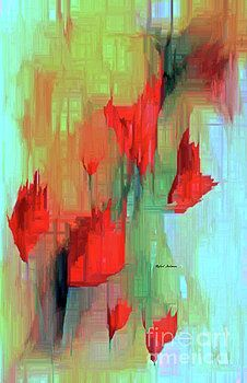 Abstract Red Flowers by Rafael Salazar