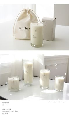 White Candles and nice packaging Candle Branding, Candle Packaging, Candle Labels, Homemade Candles, Diy Candles, White Candles, Scented Candles, Perfume, Tienda Natural