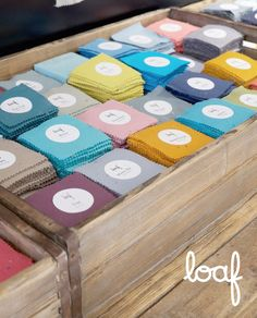 Bright and colourful fabric sample swatches at Loaf's Notting Hill Loaf Shack. Pick 'n' mix from soft velvets, cottons, linens and leathers. Pick And Mix, Dfs, Notting Hill, Furniture Showroom, Fabric Samples, Linens, Swatch, Velvet, Bright