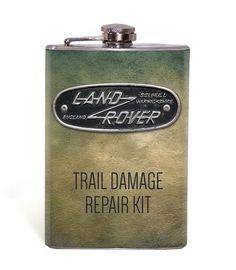 Land Rover Trail Damage Repair Kit 8oz Flask