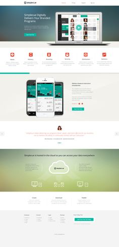 A landing page WIP for Simplecue. Feel like I need another Block section to round out the design.