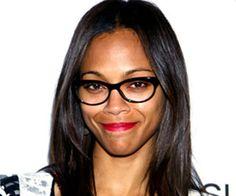 Zoe Saldana     Celebrities wearing Glasses #glasses
