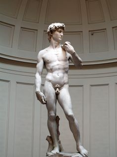 The statue of David isn't explicit, so it's okay