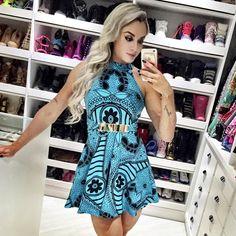 Apaixonada pelo meu look de hoje, esse vestido lindo da @missmissesmodas !! www.missmisses.com.br