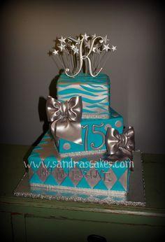 15th Birthday Cakes, Sweet 16 Birthday Cake, Birthday Cake Girls, 40th Birthday, Sweet 15 Cakes, Sweet Sixteen Cakes, Gorgeous Cakes, Pretty Cakes, Cute Cakes